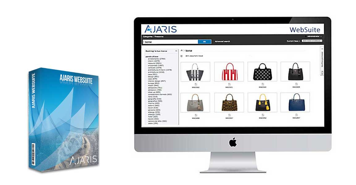 Ajaris Websuite DAM software